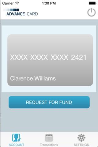 Advance Card screenshot 2