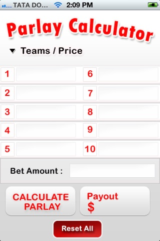 Parlay Calculator 2015 screenshot 2