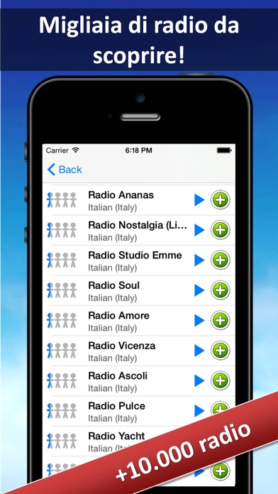 Screenshot of Radio.FM (Italia)2