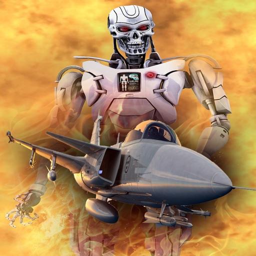 FighterJet Armored Robot Attack - 3D typhon aircraft carrier modern krypto war iOS App