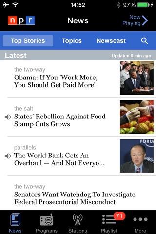 NPR News screenshot 1