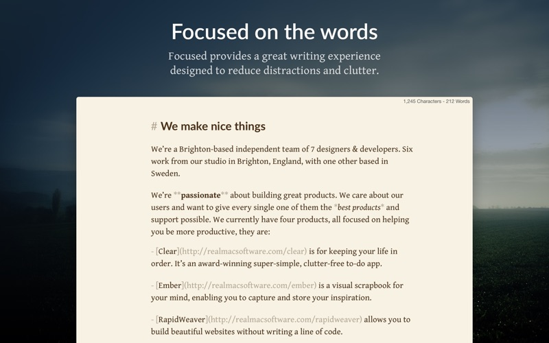 Focused - Minimal Markdown App 앱스토어 스크린샷