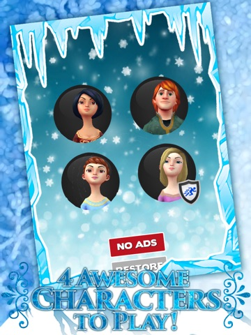 Screenshots of Frozen Princess Run 3D Infinite Runner Game For Girly Girls With New Fun Games FREE for iPad