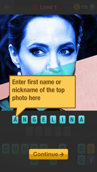 Guess Celebrity Mashup: a challenging trivia quiz game screenshot two