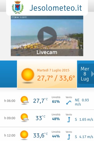 Jesolo Meteo screenshot 2
