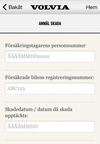 Volvia försäkring för Volvo screenshot 4