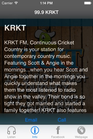 99.9 KRKT screenshot 2