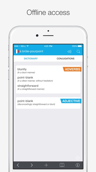 French — English Dictionary Screenshots