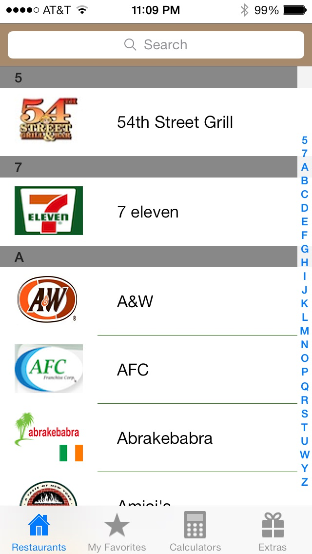 Fast Food Nutrition App Android