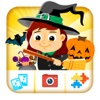 Halloween Kids Puzzle Games and Photo Frames