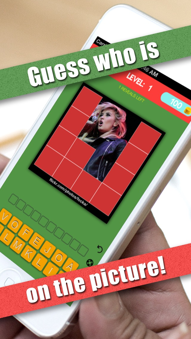 Screenshots of Guess My Celeb - Guess who's the famous celebrity in this word trivia quiz game for iPhone