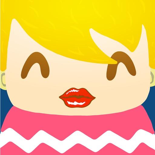 看激吻猜电视剧 - 疯狂亲亲 - 美颜明星亲吻表情相片 iOS App