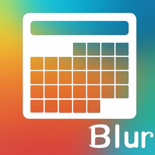 Blur日历壁纸 – 完美个性化锁屏日历壁纸 – for iOS7