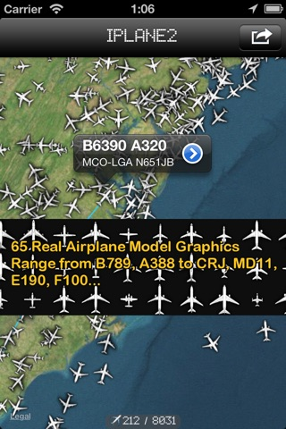 iPlane 2 - Flight Info + Status + Radar Tracker screenshot 1