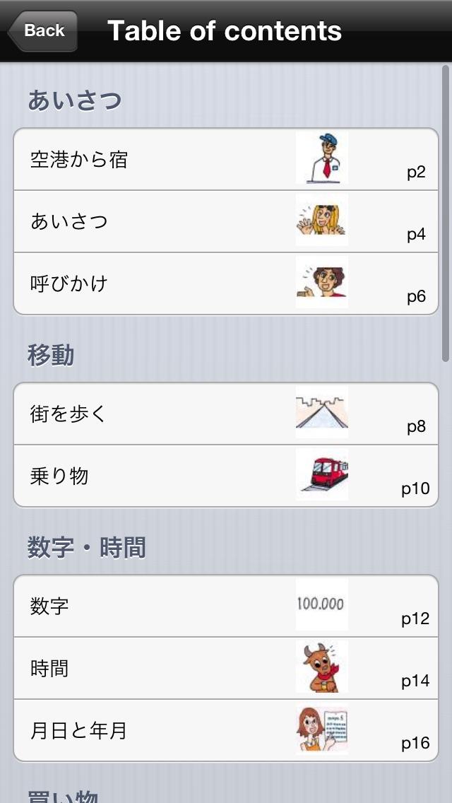 指さし会話スペイン touch&talk screenshot1
