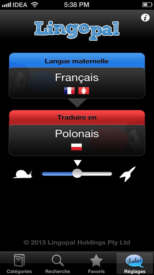 Lingopal Polonais LITE - guide de conversation audioCapture d'écran de 1