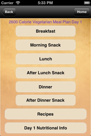 Meal Plans - Vegetarian 7 Day Meal Plans screenshot 3