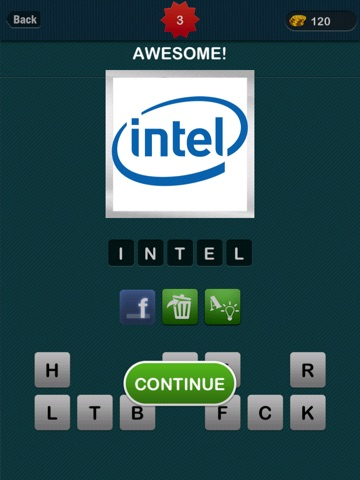 Screenshots of LogoGuess : #1 Logo Guess The Word about brand for iPad