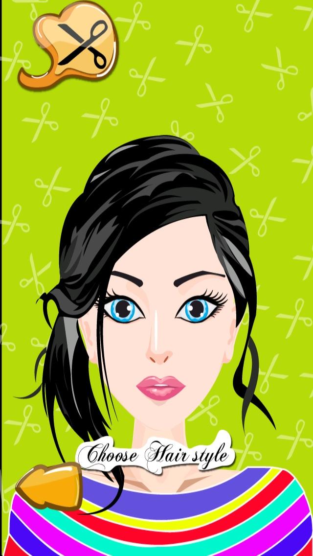 髪のプリンセスドレスアップ - ホットサロン&スパ化粧 - シックな10代の女の子のファッション変身ゲームのスクリーンショット2