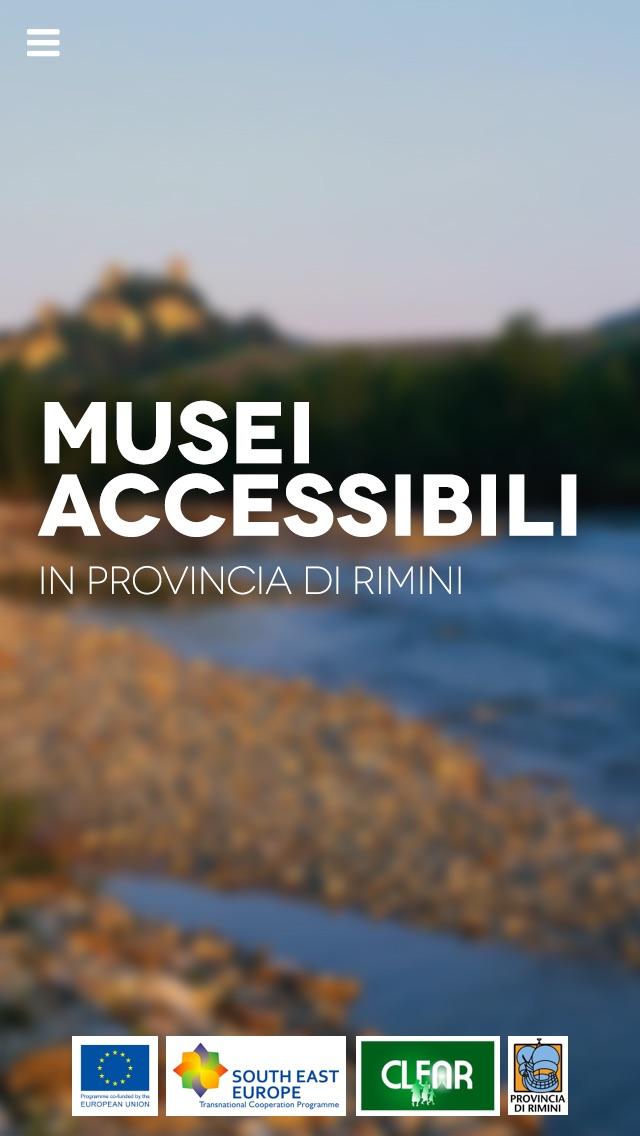Screenshot of Rimini Musei Accessibili1