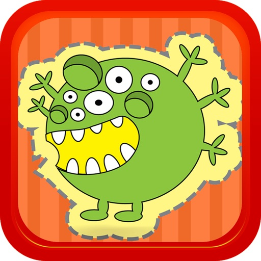 Cartoon Cute Monsters Match 3 Backyard Game iOS App