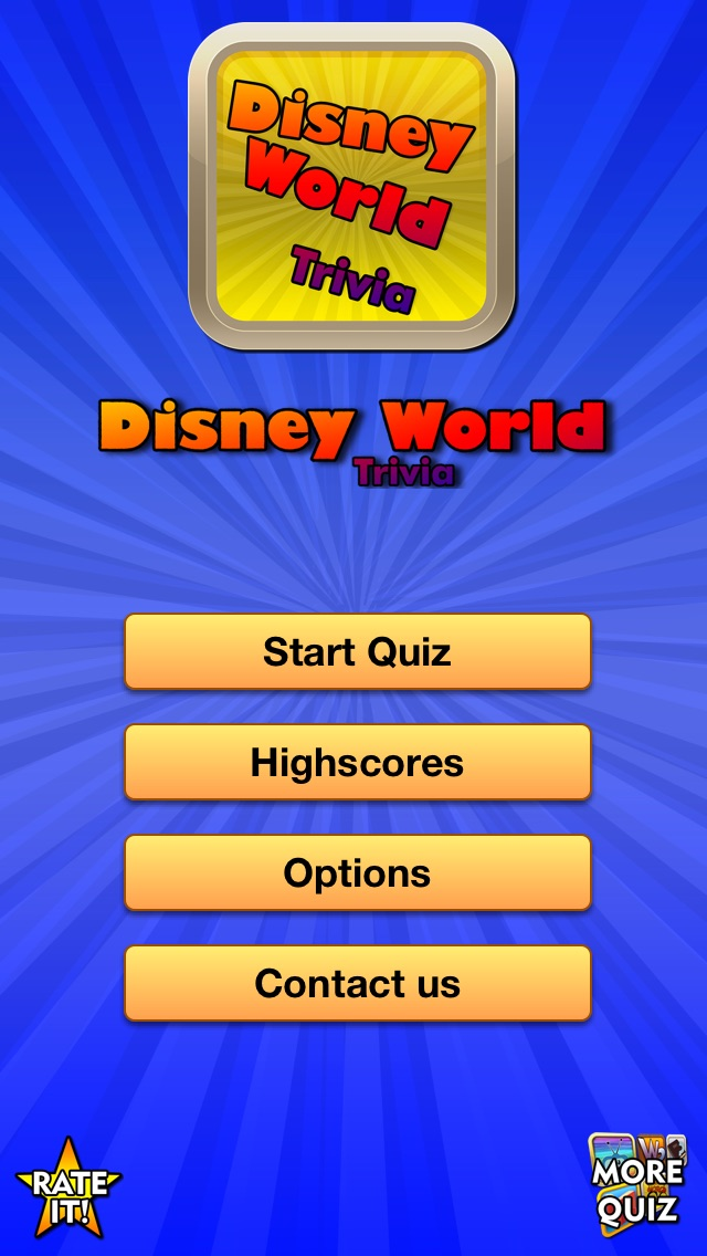 Trivia for Disney World Screenshot
