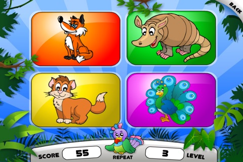 Abby - Animals - Memory Games For Kids HD screenshot 2