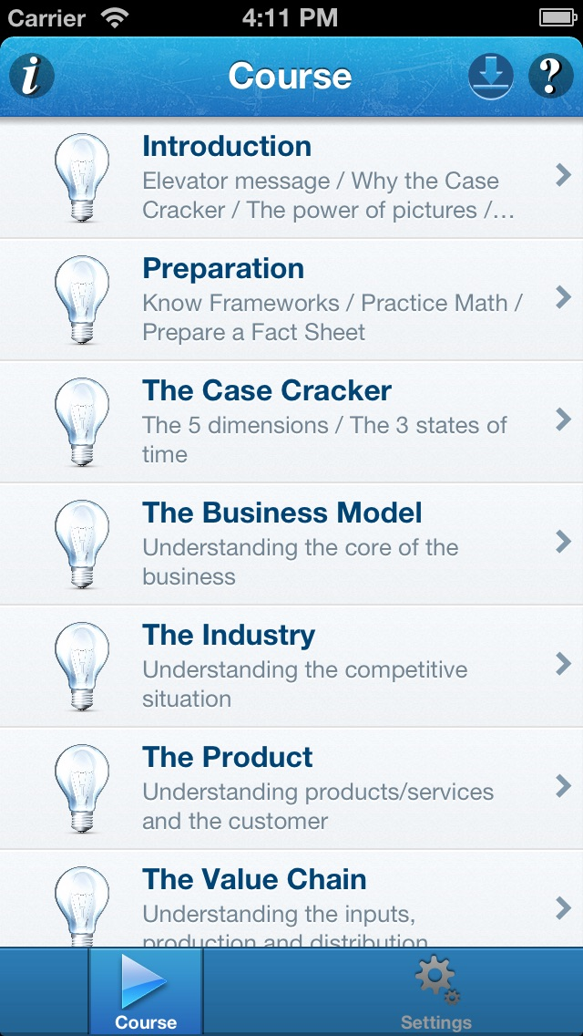 Screenshot of Case Cracker – Consulting Case Interview Preparation Using Only One Framework1