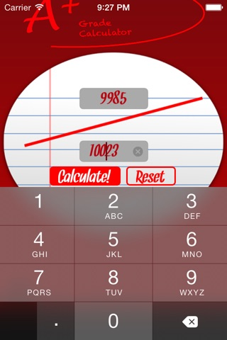 A+ Grade Calculator screenshot 1