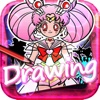 Drawing Desk Anime : Draw & Paint Sailor Moon on Coloring Book For Kids