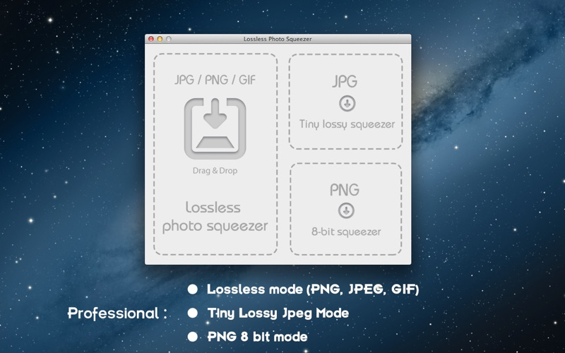 Screenshot Lossless Photo Squeezer - Reduce Image Size