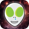 Aliens Fly - Alien head flying in 2048