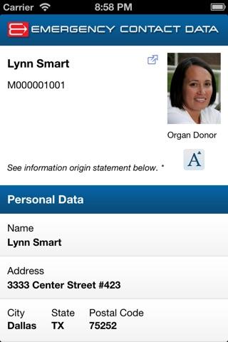 Emergency Contact Data screenshot 2