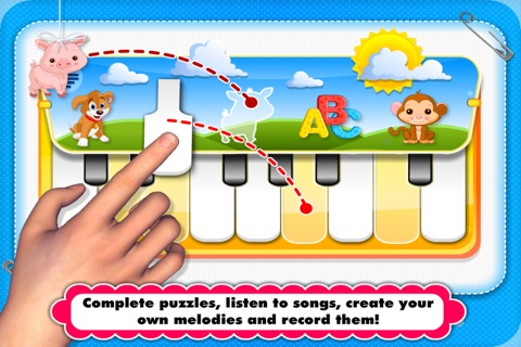 Abby Monkey® Musical Puzzle Games: Music & Songs Builder Learning Toy for Toddlers and Preschool Kids screenshot 2
