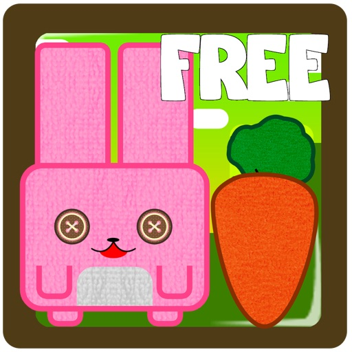 Bunny hill - connect ropes and feed the pink cube rabbit funny game FREE by The Other Games iOS App