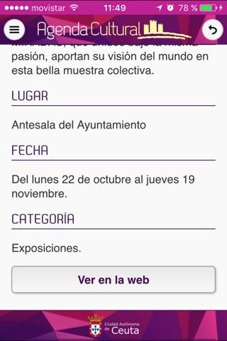 Agenda Cultural Ceuta screenshot 4