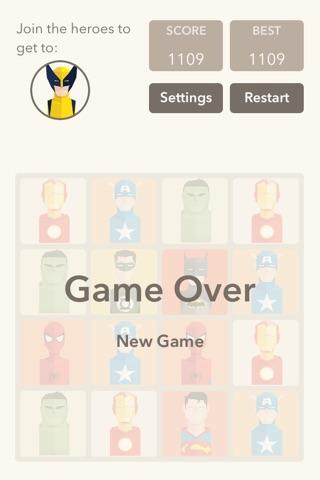 Super Heroes 2048 screenshot 3