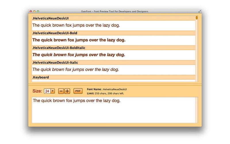 预览字体的软件 MyFonts – Font Preview Tool for Developers and Designers for Mac