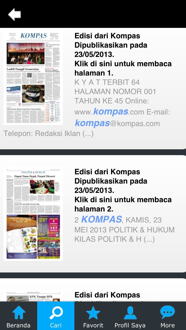 Kompas Kiosk iPhone
