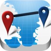 AtoB Distance Calculator Free  - gratis Distanzrechner zur Messung von Luftlinie oder Auto-Route von A nach B für Reise und mehr