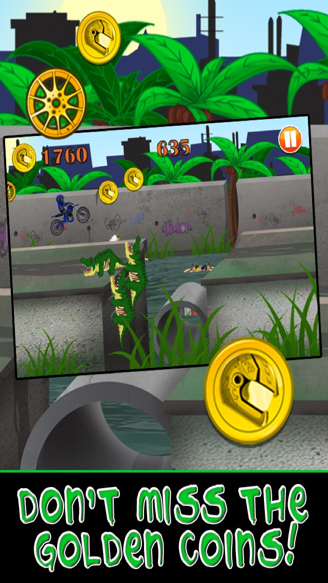 Motorcycle Bike Race Escape : Speed Racing from Mutant Sewer Rats & Turtles Game - For iPhone & iPad EditionСкриншоты 4