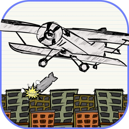 Toss the Doodle Paper AirPlane Bomber iOS App