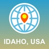 Idaho,  USA Map - Offline Map,  POI,  GPS,  Directions