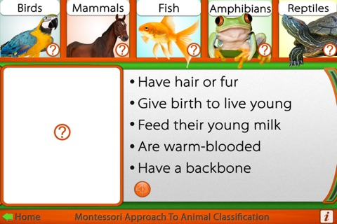 Montessori Approach to Zoology - The Animal Kingdom (Vertebrates) screenshot 4