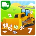 Trucks and Things That Go Counting Numbers - Preschool and Kindergarten Educational Learning Shape Puzzle Adventure Game with Toys Train for Toddler Kids Explorers