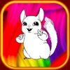 mignon sauvage coloration des animaux montrent livre chinchilla pour l'enfant