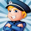 Spiel für Kinder über die Polizei: Lernen mit Polizist