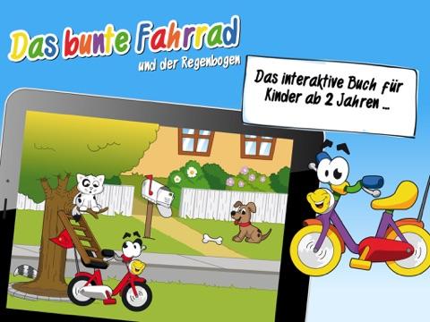 Das bunte Fahrrad - ein interaktives Biulderbuch für Kinder über Freundschaft, Berufe und Farben Screenshot