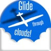 Sky Glider 2: Paper Plane Glides Kumulus-Wolken in einem blauen-Blue Sky