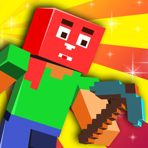 Action Craft World Block Builder - Mine Mini Heads Game iOS App